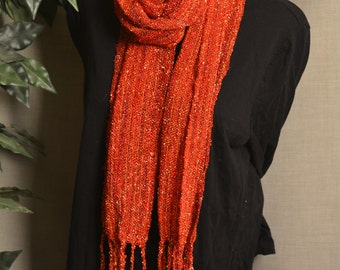 Handwoven Rayon Boucle Scarf