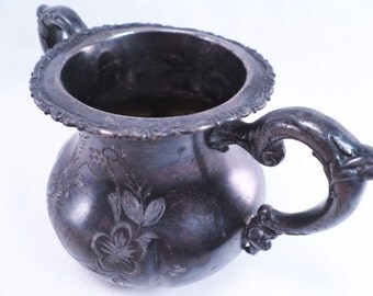 Open Sugar Bowl 2240 Homan Mfg. Co Quadruple Plate Vintage 1800s