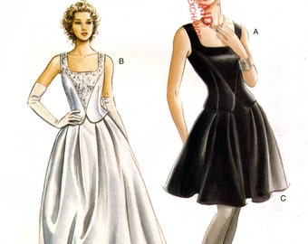 Vogue 9246 Sewing Pattern for Misses' Evening Top and Skirt - Uncut - Size 6, 8, 10