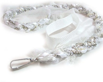 Wedding Dog Leash | Matching | Custom | Leashes | Custom Matching Dog Leashes |  White & Silver