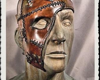 Leather half mask - Wild -