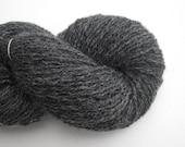 New Zealand Wool Recycled Yarn, Heavy Lace Weight, Dark Gray, 330 Yards, Lot 080716