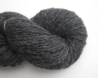 New Zealand Wool Recycled Yarn, Heavy Lace Weight, Dark Gray