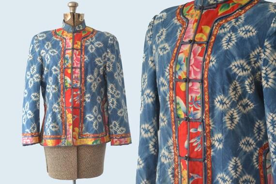 1970s Indigo Tie Dye Jacket size M