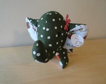 Large Stuffed Elephant- Merry