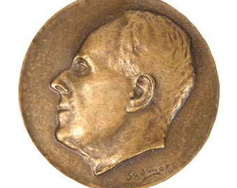 Commemorative Medal for Swedish Art Historian SIXTEN STRÖMBOM by Gudmar Olovson, 1963