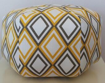 Ottoman Floor pouf / Moroccan Pillow / Floor Cushion / Bohemian Home Decor / Annie Premier Prints / Large Pouf