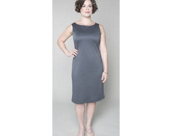 Shift Dress Sleeveless Matte Jersey Customizable Dress Length, Sleeve Length & Neckline Shape Misses Plus Sizes 2-28