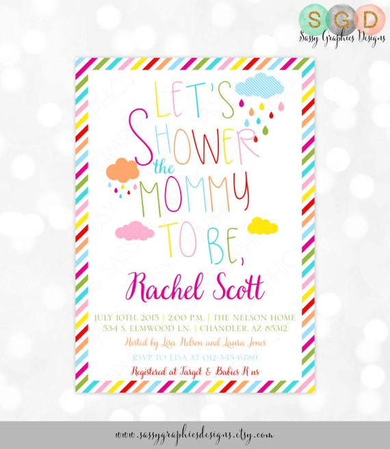 Gender neutral baby shower invite typography rainbow shower invite il570xn filmwisefo Image collections