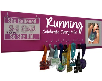 Race bibs and medals holders - medals holder and rage bibs holder : holder for medals and bibs for runner, Celebrate every mile
