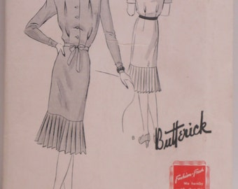 1940's Butterick Pattern #9287, Size 18, 36 - UNCUT