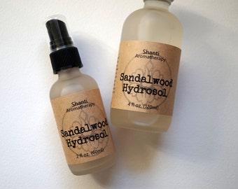 Sandalwood Hydrosol - Sandalwood Distillate - 2oz or 4oz