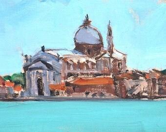 Il Redentore, Venice Italy Painting Original