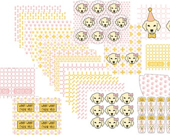 Pink Puppy Party Printables PDF