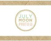 PreMade Logo Vector Logo - PreDesigned Logo - JULY MOON Logo Design -  Circle Logo - Round Logo - Photographer Logo - Photography Logo