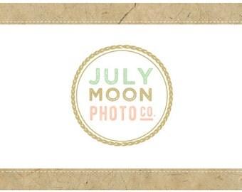 RESERVED for NANCY -PreMade Logo Vector Logo - PreDesigned Logo - July Moon Logo Design -  Circle Logo - Round Logo - Photography Logo