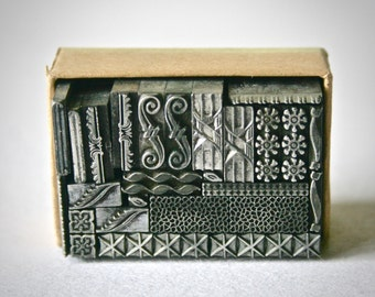 Vintage Letterpress Dingbats or Ornaments for Printing Stamping and Clay stamping
