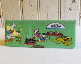 disney office decor. vintage disney pencil box donald duck pluto school supplies mid office decor t