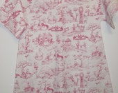 "FOR FAWN ONLY - hospital gown 39"" long in mother goose toile fabric"