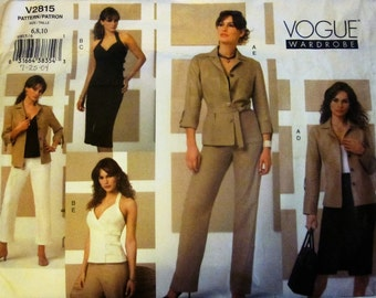 Vogue 2815 Misses' Shirt-Jacket, Top, Skirt and Pants Sewing Pattern Size 6 - 10 Bust 30 - 32