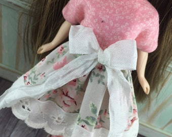 Blythe  Dress - Taupe and Pink