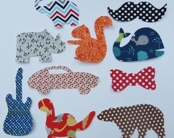 10 Assorted Baby Boy Iron On Appliques Baby Shower Activity