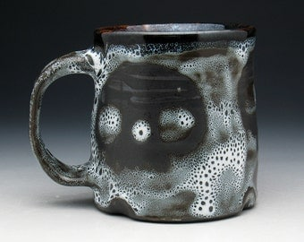Skull Coffee Mug, Spotted Triple Skulls Tea Cup