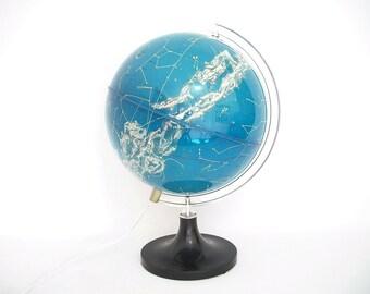Vintage Illuminated Celestial Globe made in Italy for English Market