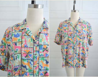 1980s Novelty Print Shirt