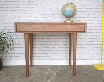Bloom Desk / Vanity In Solid Walnut