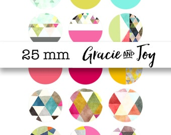 Geometric,Digital Download,Bottle cap images, 1 inch, cabochon,pattern, gracie and joy,buttons, magnets pendants