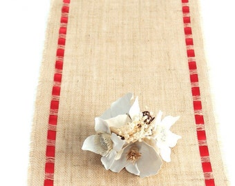 Burlap Table Runner - Country Charm - Home/Wedding Handmade Table Accessory