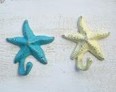 SALE 2 cast iron starfish hooks