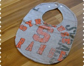 Syracuse University Baby Bib, Syracuse Orange Recycled T-Shirt Baby Bib, Syracuse New York, Sports Baby, Gender Neutral Baby Shower Gift