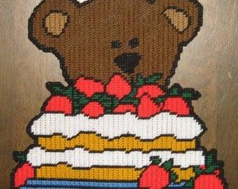 Treat Time Bear Plastic Canvas Pattern