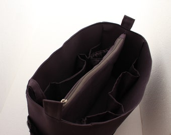 Diaper Purse organizer - Diaper Bag organizer insert in Gray/ Charcoal color