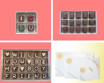 Boyfriend Gift for Men Him Proposal Ask, You And I Like You A Lot Will You Be My Boyfriend Chocolate Message Be My Valentines, Luxury Set