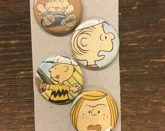 Peanuts upcycled/recycled magnet set (4)