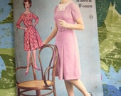 Vintage Advance 2720 Bombshell Gusset Sleeve Dress Sewing Pattern 34 Bust Slim Skirt