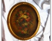 Vintage Painting- Oil on Board Still Life - Floral Painting - Framed Art - English Country House Style Wall Art