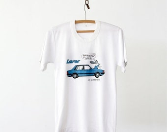 SALE vintage 80s t-shirt,  Ford Laser car tee