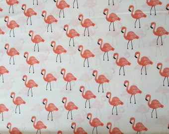 LAWN Flamingo in Ivory, Les Fleurs by Rifle Paper Co. For Cotton and Steel, RJR Fabrics, 1/2 yard LAWN