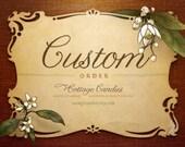 Custom listing for Tonushree