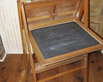 Vintage Childs Blackboard and Desk.