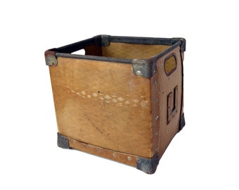 Industrial Factory Bin, Factory Storage Tote, Yellow Steel Handled Storage Box