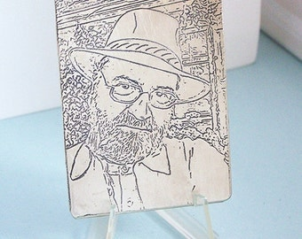 Etched Custom Photo Metal Wallet Card - Your photograph - Memorial - Accessories