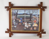 Vintage Framed Peaches are In Print by Queena Stovall