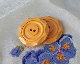 Vintage Butterscotch Bakelite Buttons Carved Bakelite Buttons Sewing Room Button Collector Vintage Supply Vintage 1930s