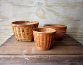 Set of Three Vintage Baskets Instant Collection