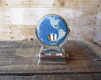 Vintage Globe Perpetual Calendar FREE SHIPPING